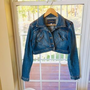Younique Jean Cropped Jacket